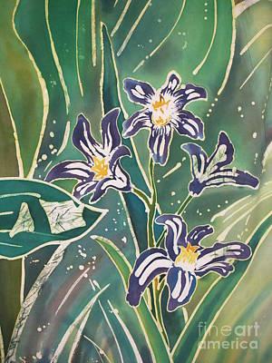 Dye-painted Painting - Batik Macro - Pushkinia by Anna Lisa Yoder