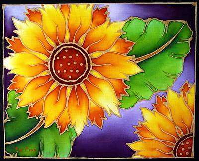 Painting - Batik Sunflower by Kat Poon