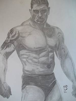 Art Print featuring the drawing Batista by Justin Moore