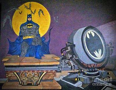 Painting - Batman And Beam by Brenda Brown