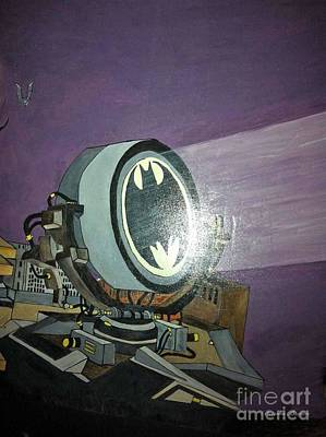 Painting - Batman Beam by Brenda Brown