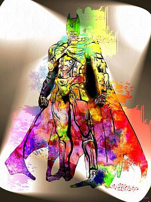 Batman Grunge Art Print