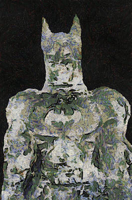 Batman Ice Sculpture Photo Art 03 Print by Thomas Woolworth