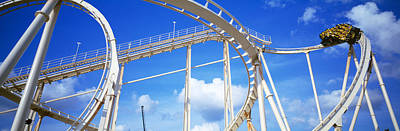 Rollercoaster Photograph - Batman The Escape Rollercoaster by Panoramic Images
