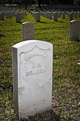 Photograph - Baton Rouge National Cemetery by Andy Crawford