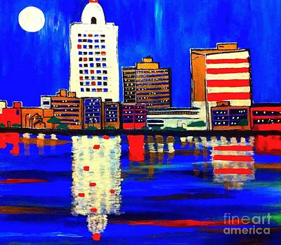Painting - Baton Rouge Pop Art by Saundra Myles