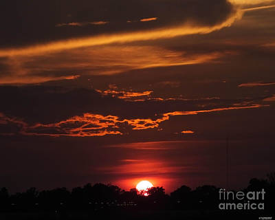 Photograph - Baton Rouge Sizzling Sunday Sunset  by Lizi Beard-Ward