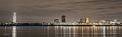 Andy Crawford Photograph - Baton Rouge Skyline by Andy Crawford