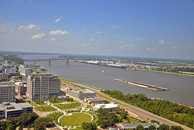 Photograph - Baton Rouge's Mississippi River by Helen Haw