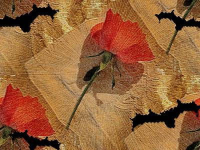 Fineart Mixed Media - Bats And Roses by Pepita Selles