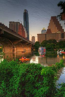 Bats Going Out For Dinner In Austin Art Print