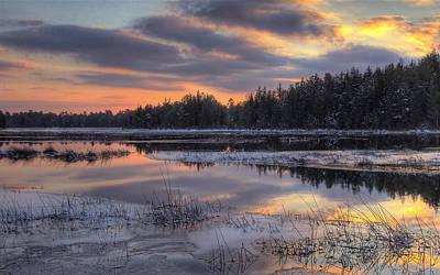 Batsto Lake Sunset 2 Art Print by Greg Vizzi