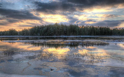 Photograph - Batsto Lake Sunset1 by Greg Vizzi