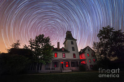 Michael Versprill Photograph - Batsto Mansion Star Trails by Michael Ver Sprill
