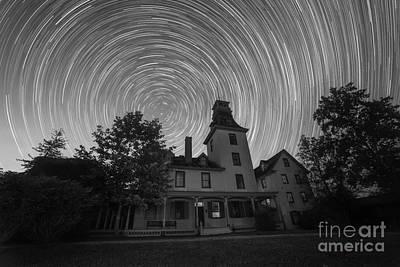 Batsto Village Mansion Star Trails Bw Original by Michael Ver Sprill