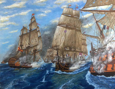 Redoutable Painting - Battaglia Di Trafalgar 1805 by Bruno Angius - Bursus