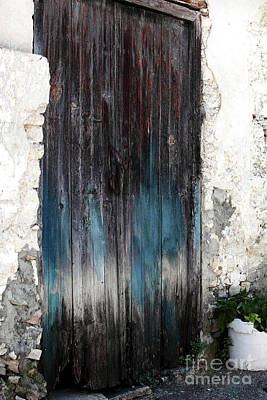 Cypriotic Photograph - Battered Blue by John Rizzuto