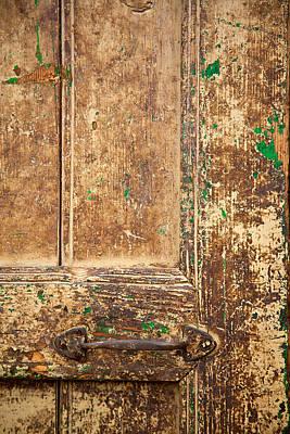 Battered Door Art Print by Peter Tellone