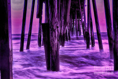 Beach Photograph - Battered Pier And The Raging Seas by Tony Cooper