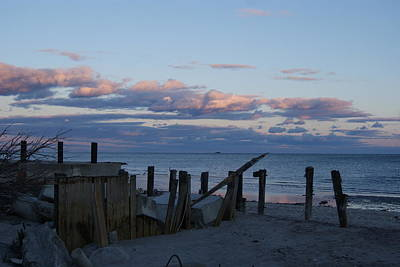 Photograph - Battered Pier At Sundown by Margie Avellino
