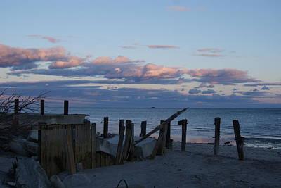 Photograph - Battered Pier At Sundown by Margie Avellino