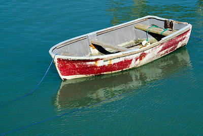 Folkestone Harbour Wall Art - Photograph - Battered Red Boat by Paul Martin
