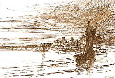 Battersea Bridge 1868 Art Print by Padre Art