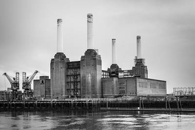 Photograph - Battersea Power Station In Monochrome by Semmick Photo