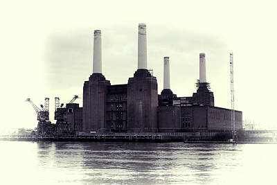 Battersea Power Station Vintage Print by Jasna Buncic