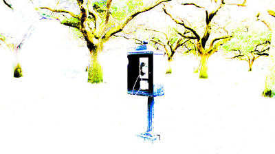 Battery Payphone Art Print by Philip Zion