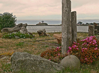 Photograph - Battery Point Lighthouse Springtime  by Gracia  Molloy