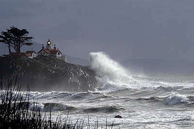 Art Print featuring the photograph Battery Point Storm by Betty Depee