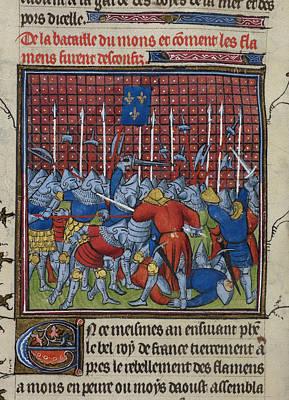 Fleur De Lis Photograph - Battle At Mons by British Library