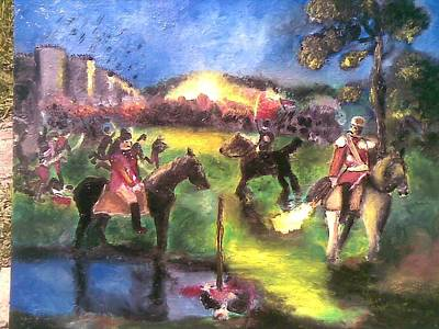 Painting - Battle For Freedom by Lazar Caran