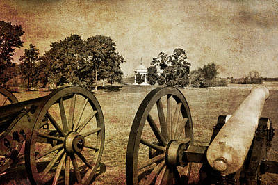 Battle Line At Antietam Print by Mick Burkey