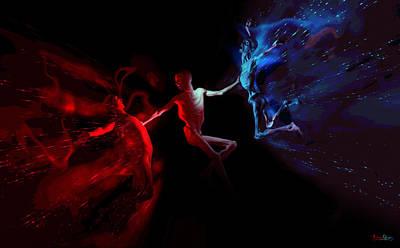 Digital Art - Battle by Matt Lindley