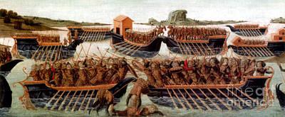 Battle Of Actium, 31 Bc Art Print