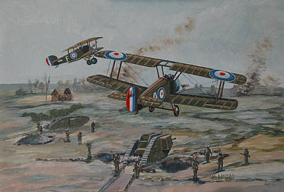 Print featuring the painting Battle Of Amiens by Murray McLeod