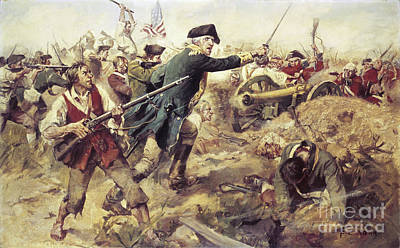 Destruction Painting - Battle Of Bennington by Frederick Coffay Yohn