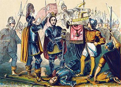 Battle Of Bosworth, Henry Vii Crowning Art Print