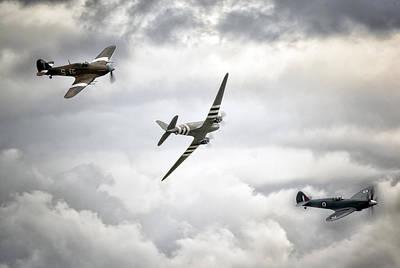 Spitfire Photograph - Battle Of Britain Memorial Flight by Jason Green