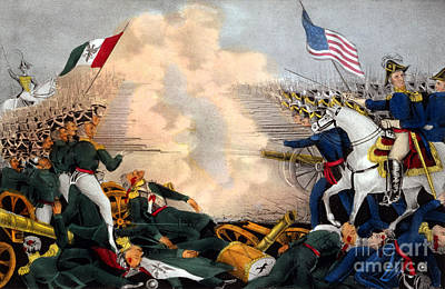 Battle Of Buena Vista Mexican-american Art Print by Photo Researchers