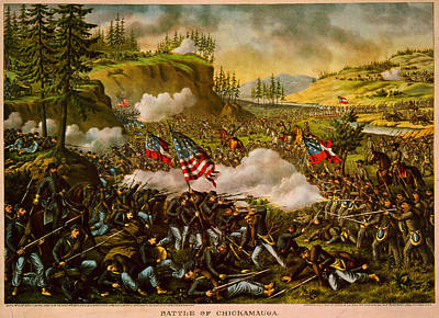 Battle Of Chickamauga Painting - Battle Of Chickamauga by Celestial Images