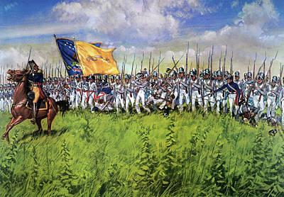 Battle Of Chippewa, 1814 Art Print
