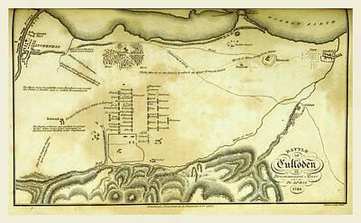 Battle Of Culloden, 1746 Art Print