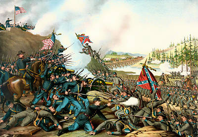 Battle Of Franklin Tennessee 1864 Print by Mountain Dreams