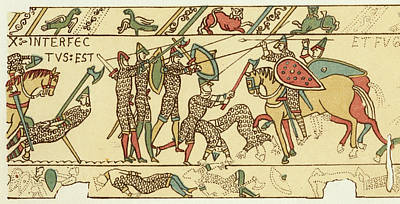 Battle Of Hastings The Battle Rages Art Print by Mary Evans Picture Library
