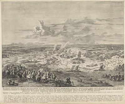 Battle Of Hchstdt, 1704, Jan Van Huchtenburg Art Print
