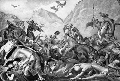 Iron Age Painting - Battle Of Kadesh, C1274 B by Granger