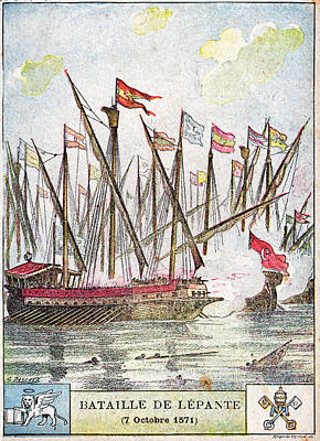 Battle Of Lepanto Art Print